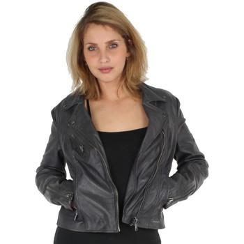 Vêtements Vestes / Blazers Rino&pelle Veste en cuir Rino et Pelle ref_lei42299 Anthracite gris