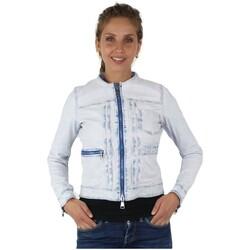 Vêtements Femme Blousons Redskins Blouson  en cuir ref_trk38687-navy-blanc Navy blanc