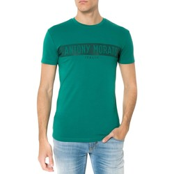 Vêtements T-shirts manches courtes Antony Morato T SHIRT CON STAMPA ANTONY MORA Vert