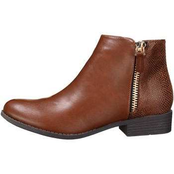 Chaussures Femme Bottines Lily Shoes H818 Camel Beige