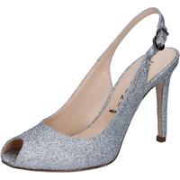 Chaussures Femme Sandales et Nu-pieds Capitini sandales argent glitter BZ492 argent