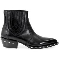 Chaussures Femme Bottines Barracuda Chaussures à Lacets BD0630 Studded Black