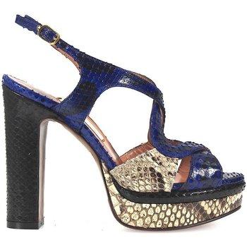 Chaussures Femme Sandales et Nu-pieds L'autre Chose Sandales Tricolor Python Multicolor