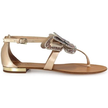 Chaussures Femme Sandales et Nu-pieds Ninalilou Tongs Swarowski Butterfly Flat Thong Beige