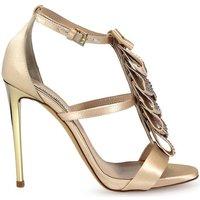 Chaussures Femme Sandales et Nu-pieds Ninalilou Sandales Swarowski Ribbon Powder Beige Heeled Beige