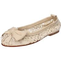 Chaussures Femme Ballerines / babies Nu-Eva chaussures femme  ballerines beige textile cuir AE20 beige