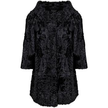 Vêtements Femme Manteaux Frame Manteau D'Astrakhan Noir Black