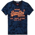 Superdry TEE SHIRT SHOP INDIGO AOP