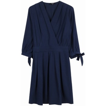 Vêtements Femme Robes Frnch Robe armel Bleu marine