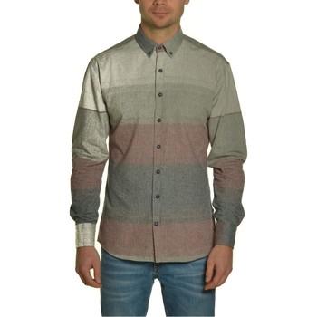 Vêtements Homme Chemises manches longues Kronstadt DEAN MULTI STRIPE Multicolore
