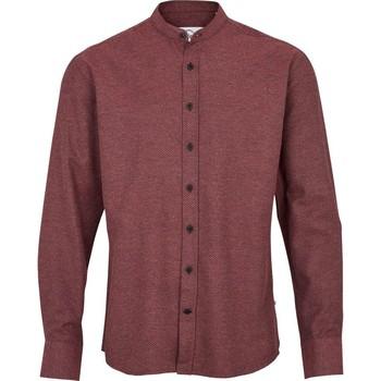 Vêtements Homme Chemises manches longues Kronstadt DEAN HENLEY MATRIX Bordeaux