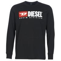 Vêtements Homme T-shirts manches longues Diesel T JUST LS DIVISION Noir