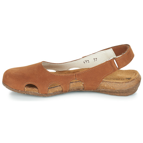 El Wakataua Femme pieds Et Naturalista Chaussures Sandales Nu Marron tsQdhrCx