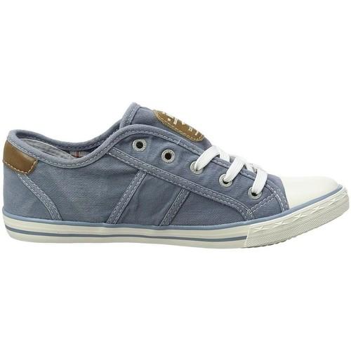 Mustang 1099-302 bleu - Chaussures Baskets basses Femme