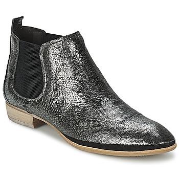 Bottines / Boots Un Matin d'Ete TOBAGO Noir / Argenté 350x350
