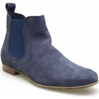 Chaussures Femme Boots Coco & Abricot coco&abricot boots velours reptile bleu