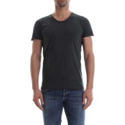 Vêtements Homme T-shirts manches courtes Wool&co Daniele Fiesoli WO 2371 T-SHIRT Homme Antracite Antracite