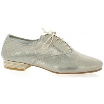 Chaussures Femme Richelieu Pao Derby cuir laminé Beige