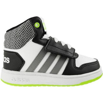 Chaussures Enfant Baskets montantes adidas Originals VS Hoops Mid 20 Blanc-Noir-Gris