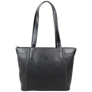 Sacs Femme Cabas / Sacs shopping Duolynx Sac cabas trapèze semi rigide Noir