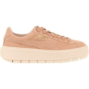 Chaussures Femme Baskets basses Puma Platform Trace Wns rose