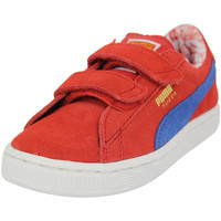 Chaussures Garçon Baskets basses Puma SUPERMAN SUEDE V INF Chaussures Mode Sneakers Enfant Cuir Suede rouge