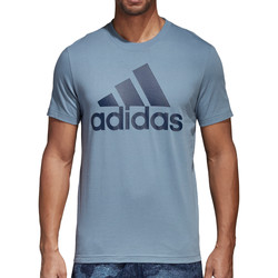 Vêtements Homme T-shirts manches courtes adidas Originals Essentials Linear Tee Blau