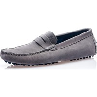 Chaussures Homme Baskets mode American People Mocassin homme gris en daim gris