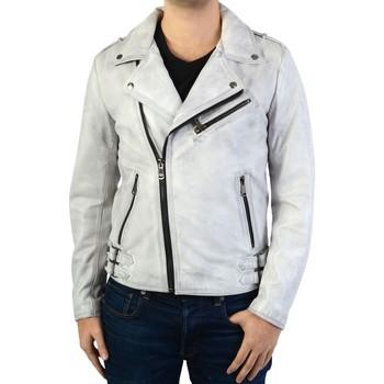 Vêtements Homme Blousons Ladc Blouson En Cuir  Troadero Dolmen Blanc
