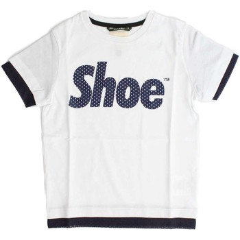 Vêtements Enfant T-shirts manches courtes Shoeshine E8TM1214 T-SHIRT junior unisexe WHITE WHITE