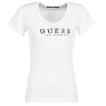 Vêtements Femme T-shirts manches courtes Guess GIPSY Blanc