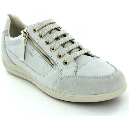 Geox D6468A Blanc - Chaussures Baskets basses