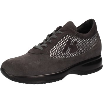 Chaussures Femme Baskets basses Hornet Botticelli sneakers gris daim strass AE480 gris