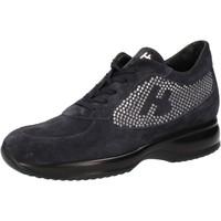 Chaussures Femme Baskets basses Hornet Botticelli chaussures femme  sneakers bleu daim strass AE482 bleu