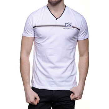 Vêtements Homme T-shirts manches courtes Max Way Tee Shirt col V manches courtes Blanc