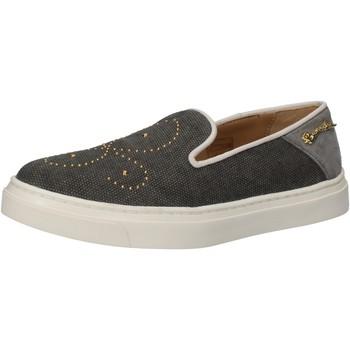 Chaussures Femme Slip ons Braccialini slip on gris textile clous AE545 gris
