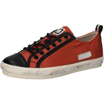 Chaussures Femme Baskets basses Date D.A.T.E. sneakers orange textile noir cuir AE574 orange