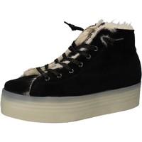 Chaussures Femme Baskets mode 2 Stars chaussures femme  sneakers noir velours fourrure AE614 noir