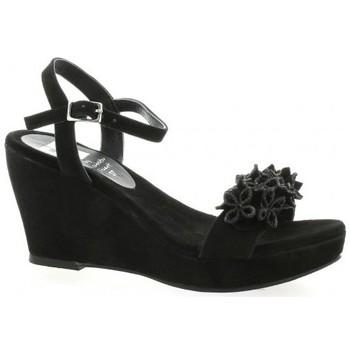 Chaussures Femme Sandales et Nu-pieds Elizabeth Stuart Nu pieds cuir velours Noir