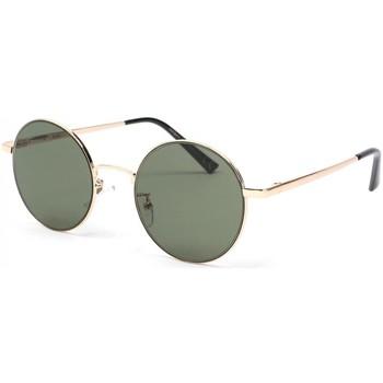 Montres & Bijoux Lunettes de soleil Eye Wear Lunette de soleil ronde dore et grise Obladi Gris