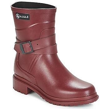 Chaussures Femme Bottes de pluie Aigle MACADAMES MID Bordeaux