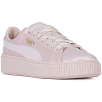 Chaussures Femme Baskets basses Puma BASKET PLATFORM TWEEN JR Rosa