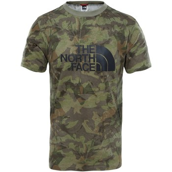 Vêtements Homme T-shirts manches courtes The North Face M S/S Easy Tee Eng. Green Camiseta, Hombre VERDE