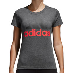 Vêtements Femme T-shirts manches courtes adidas Originals Essentials Linear Slim Tee Women Grau