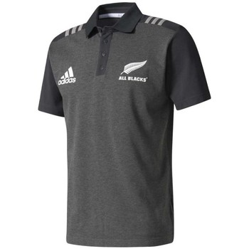 Vêtements Polos manches courtes adidas Originals Polo rugby adulte - All Blacks - Gris