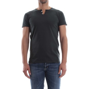 Vêtements Homme T-shirts manches courtes Wool&co Daniele Fiesoli WO 2373 T-SHIRT Homme Antracite Antracite