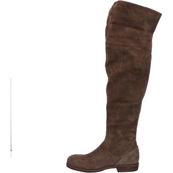 Chaussures Femme Cuissardes Vic bottes marron daim AE871 marron