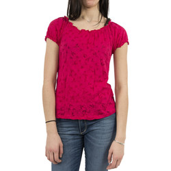 Vêtements Femme T-shirts manches courtes Street One tee shirt  carmen rose rose