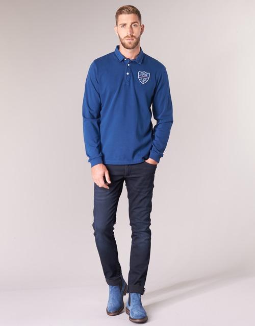 France Serge Bleu Polo Longues Polos Homme Blanco Manches LzqUVGSMp