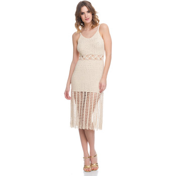 Vêtements Femme Robes Laura Moretti Robe LRCP8N1004 Femme Collection Printemps Eté Beige